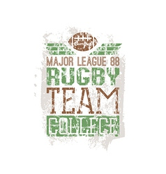 Campus rugby team print vector