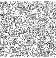 Cartoon hand-drawn doodles on the subject vector