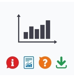 Graph chart sign icon diagram symbol vector