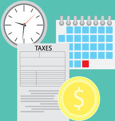 Tax day concept vector
