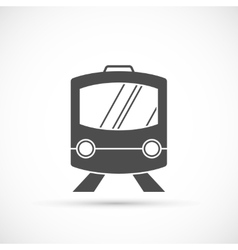 Train icon on white vector