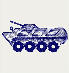 Armored troop-carrier vector image vector image