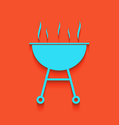 Barbecue simple sign whitish icon on vector