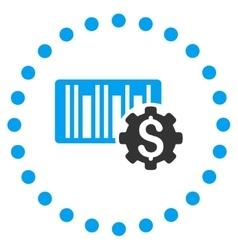 Barcode price setup icon vector
