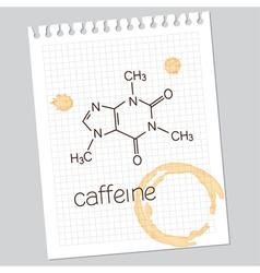 Caffeine vector image vector image