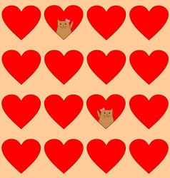 cats in hearts vector image