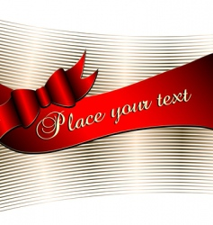 decorative background with ribbon vector image