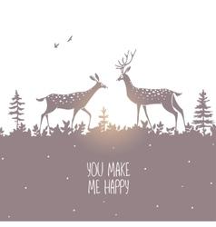 deer silhouette design vector image