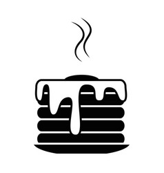 delicious pudding isolated icon vector image