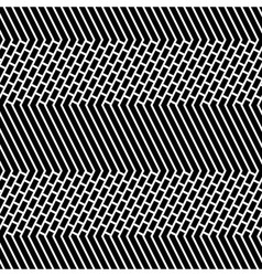 Diagonal Bricks and Stripes Black White Seamless vector image