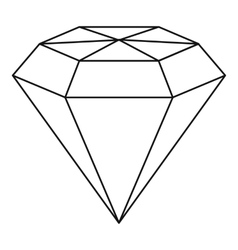 Diamond gemstone icon outline style vector image