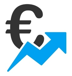 Euro growth icon vector