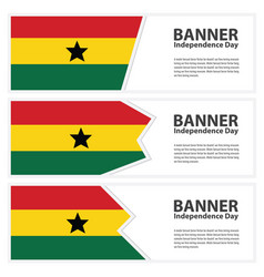 Ghana flag banners collection independence day vector