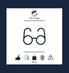 glasses symbol - search icon vector image vector image