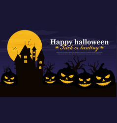 halloween background flat design vector image
