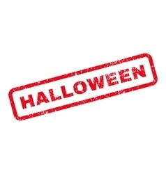 Halloween text rubber stamp vector