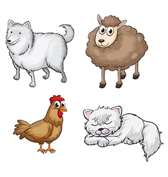 Land animals vector image vector image
