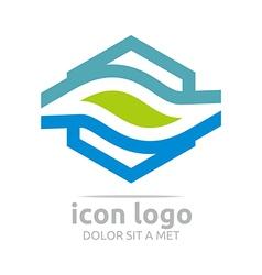 Logo icon trapeziodal shape design symbol abstract vector