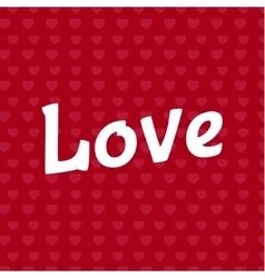 Love lettering text inscription vector image vector image