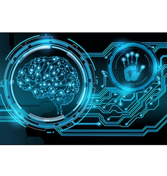 machine brainand vector image vector image