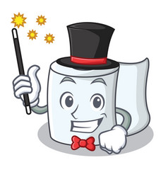 Magician tissue character cartoon style vector