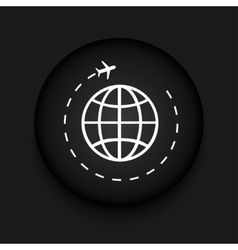 modern tourism black circle icon vector image vector image