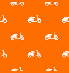 motorbike pattern seamless vector image vector image