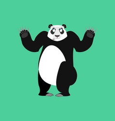 Panda surprised emoji chinese bear astonished vector