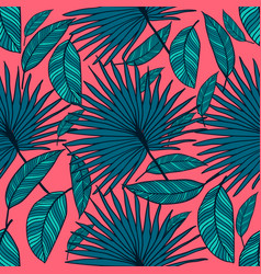 seamless tropical pattern tropical color vector image