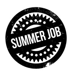 Summer job rubber stamp vector