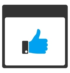 Thumb up hand calendar page toolbar icon vector