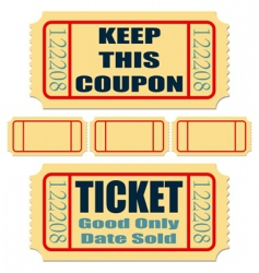 tickets vector image vector image