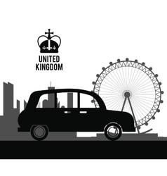 traditional car icon United kingdom design vector image vector image