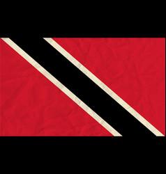 Trinidad and tobago paper flag vector