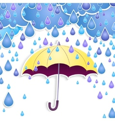 umbrella and rain drops vector image vector image