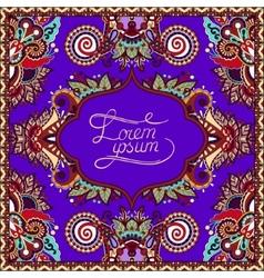 Violet colour decorative pattern of ukrainian vector