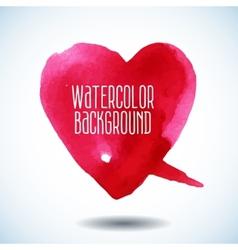 Watercolor pink heart vector