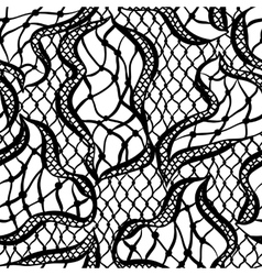 Seamless lace pattern with abstract waves vintage vector
