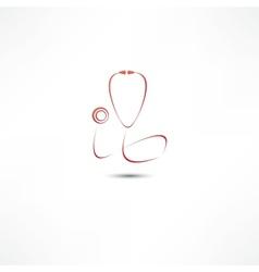 Stethoscope icon vector