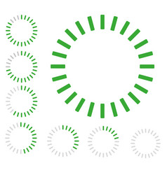 Green round pre-loader vector