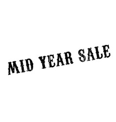 mid year sale rubber stamp vector image
