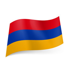 National flag of armenia red blue and yellow vector