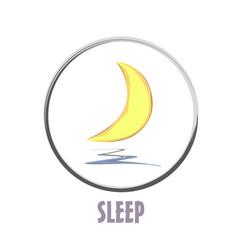 Icon basic sleep under the moon shard vector