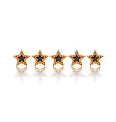 Five gold stars vector
