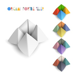 Colorful origami fortune teller vector