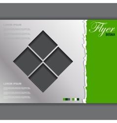 Flyer template business brochure vector image