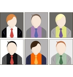 Office workers avatar vector image