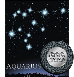 Aquarius zodiac sign water bringer zodiac vector