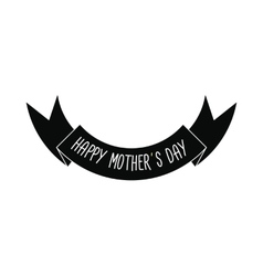 Mother day ribbon icon vector