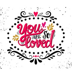 Love hand drawn vintage with hand-lettering vector